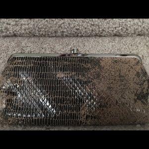 Snake Skin HOBO brand leather wallet clutch
